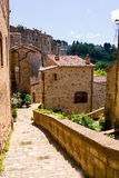Charming village, with narrow streets. In Sorano city,Italy Stock Photography
