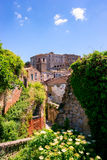 Charming village, with narrow streets. In Sorano city,Italy Stock Photo