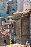 Charming village, with narrow streets. In Sorano city,Italy Stock Images
