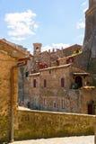 Charming village, with narrow streets. In Sorano city,Italy royalty free stock photos