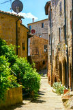 Charming village, with narrow streets Stock Image