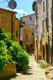 Charming village, with narrow streets. In Sorano city,Italy Stock Image