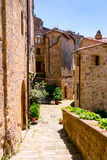 Charming village, with narrow streets. In Sorano city,Italy Royalty Free Stock Image