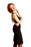 Charming woman in  black dress Royalty Free Stock Photography
