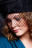 Charming   woman in a hat Stock Photo