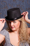Charming   woman in a hat Stock Image