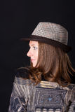 Charming   woman in a hat Royalty Free Stock Photo