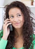 Charming woman on phone Stock Image