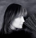 Charming woman. Portrait in black & white Royalty Free Stock Photos