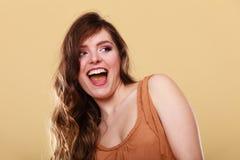 Charming woman portrait girl smiling Stock Photos