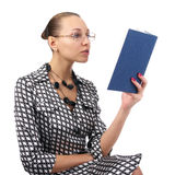Charming woman reading a book Stock Image