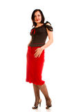 Charming  woman in  red skirt Stock Photography
