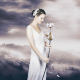 Charming woman with romantic sentiment Royalty Free Stock Photography