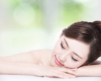 Charming woman Smile enjoy spa Stock Photography