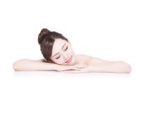 Charming woman Smile enjoy spa Royalty Free Stock Photography