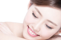 Charming woman Smile enjoy spa Royalty Free Stock Images