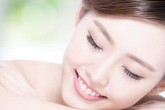 Charming woman Smile enjoy spa Royalty Free Stock Photo