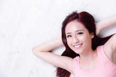 Charming woman Smile face Royalty Free Stock Image