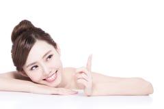 Charming woman Smile face Stock Photos