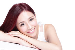 Charming woman Smile face Royalty Free Stock Photos