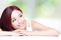Charming woman Smile face Royalty Free Stock Images