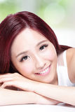 Charming woman Smile face Stock Photography