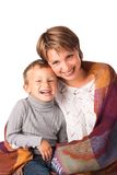 Charming woman with a son Royalty Free Stock Photos
