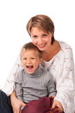 Charming woman with a son Stock Image