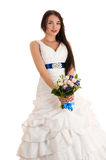 Charming woman in a wedding dress Stock Photo
