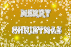 Charming Yellow Christmas background illustration Royalty Free Stock Photography