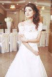 Charming young beautiful bride. Royalty Free Stock Images