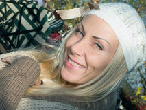 Charming young blond woman Stock Image