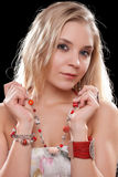 Charming young blonde Stock Images