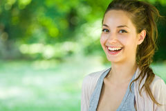 Charming young brunette. Stock Photo