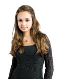 Charming young brunette beauty. Royalty Free Stock Photo
