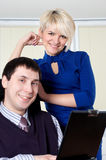 The charming young business woman Royalty Free Stock Image