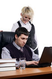 The charming young business woman Stock Photo