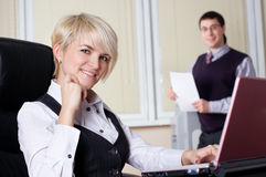 The charming young business woman Stock Images
