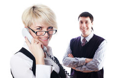The charming young business woman Stock Image