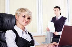 The charming young business woman Royalty Free Stock Images