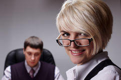 The charming young businesswoman Royalty Free Stock Photo