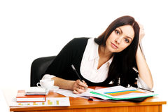 Charming young businesswoman Stock Images