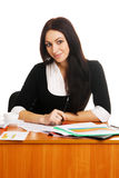 Charming young businesswoman Stock Photos