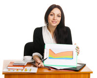 Charming young businesswoman Royalty Free Stock Photography