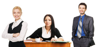 Charming young businesswoman and her team Royalty Free Stock Images
