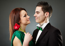 Charming young couple on Valentine's Day Stock Image