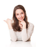 Charming young expressive brunette. Stock Images