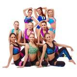 Charming young fitness girls posing at camera Royalty Free Stock Photos