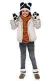 Charming young girl enjoying winters Royalty Free Stock Images