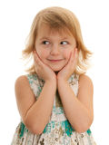 Charming young girl looking away Royalty Free Stock Photo